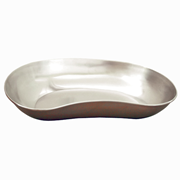 Picture of Holloware-Kidney Dishes Stainless Steel with round edges Emesis Kidney Dish Tray, Shallow, 410 Length x 245 Width x 65 Depth (mm), Gauge 26/0.5mm, 18/8 Stainless Steel, Each