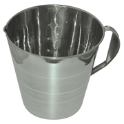 Picture of Measure Jug with Handle, Graduated 5 Litre, Stainless 18/8, 26 Gauge 0.5mm. Measure Jug with Handle, Graduated 5 Litre, Stainless 18/8, 26 Gauge 0.5mm.