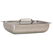 Picture of Livingstone Instrument Tray without Cover Livingstone Instrument Tray, 279 x 178 x 51 mm/11 x 7 x 2 in, without Cover, 0.5mm Thickness, Stainless Steel, Grade 202, Each