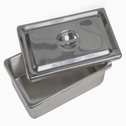 Picture of Medical Consumables & Surgical Supplies-Holloware INSTRUMENT TRAYS Livingstone Instrument Tray, 305 x 203 x 51 mm/12 x 8 x 2 in, with Cover, 0.5mm Thickness, Stainless Steel, Grade 202, Each