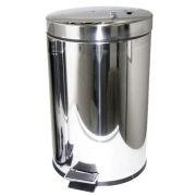Picture of Safety Products-Garbage Bins Pedal/Step Stainless Steel Pedal Step Bin, 20 Litres, Stainless Steel, Each