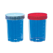 Picture of Plasticware-Containers  Polystyrene, Graduated with Screw Cap Urine Container Recyclable Polystyrene, 150ml Screw Cap, Individually Wrapped Sterile, 200/Carton