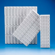 Picture of Laboratory Consumables-Trays PVC Slide Tray Polyvinyl Chloride (PVC) White 340x100mm., 10 Positions Horizontal