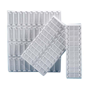 Picture of Laboratory Consumables-Trays PVC Slide Tray Polyvinyl Chloride (PVC) White 680x190mm., 40 Positions Horizontal