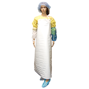 Picture of Safety Products-Aprons PVC with Metal Eyelets Livingstone Apron, 87 x 129cm, 400 Microns/0.4mm, Polyvinyl Chloride (PVC), Heavy Duty, Bib Type, White, Each