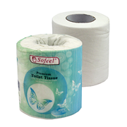 Picture of Toilet Tissue-Toilet Rolls and Dispensers Sofeel Sofeel Premium Toilet Tissues, 2-Ply, 11 x 10cm, 260 Sheets, 450 Degrees Steam Treated, White, 48 Rolls per Carton