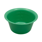 Picture of Holloware-Bowls Plastic, Autoclavable Livingstone Bowl Basin, 150ml, 100mm Diameter x 48mm Height, Autoclavable Recyclable Plastic, Green, Each