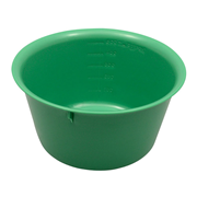 Picture of Holloware-Bowls Plastic, Autoclavable Livingstone Bowl Basin, 600ml, 140mm Diameter x 76mm Height, Autoclavable Recyclable Plastic, Green, Each
