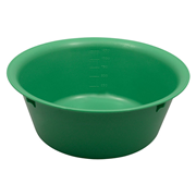 Picture of Holloware-Bowls Plastic, Autoclavable Livingstone Bowl Basin, 1500ml, 210mm Diameter x 80mm Height, Autoclavable Recyclable Plastic, Green, Each
