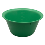 Picture of Holloware-Bowls Plastic, Autoclavable Livingstone Bowl Basin, 2500ml, 240mm Diameter x 114mm Height, Autoclavable Recyclable Plastic, Green, Each