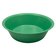 Picture of Holloware-Bowls Plastic, Autoclavable Livingstone Bowl Basin, 3500ml, 305mm Diameter x 89mm Height, Autoclavable Recyclable Plastic, Green, Each