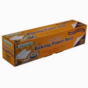 Picture of Universal Biodegradable Baking Paper Universal Biodegradable Baking Paper, 40cm x 120 Metres, 44GSM, Non-Stick with Metal Cutter, Waterproof, 1 Roll per Box, 4 Boxes/Carton