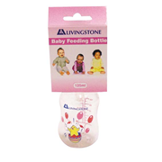 Picture of Baby Care-Livingstone Baby Bottles Livingstone Baby Feeding Bottle, 125ml, Polycarbonate, BPA Free, Recyclable, Complete with Teat and Cover, Each