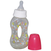 Picture of Baby Care-Livingstone Baby Bottles Livingstone Baby Feeding Bottle, 140ml, Split Hold, Polycarbonate, BPA Free, Recyclable, Complete with Teat and Cover, Each