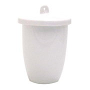 Picture of Laboratory Consumables-Crucibles Glazed Porcelain with Lid High Wall Height Crucible, 50ml, 55 Diameter x 43 Height mm, High Wall with Lid, Porcelain, Each