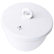 Picture of Laboratory Consumables-Crucibles Glazed Porcelain with Lid Low Wall Height Crucible, 25ml, 47 Diameter x 27 Height mm, Low Wall with Lid, Porcelain, Each