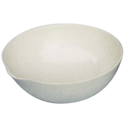 Picture of Laboratory Consumables-Evaporating Basins Porcelain, Round Bottom with Spout Livingstone Evaporating Dish, 50ml, 70 Diameter x 28 Height mm, Round Bottom with Spout, Porcelain, Each