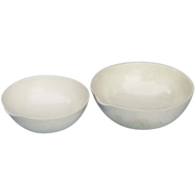 Picture of Laboratory Consumables-Evaporating Basins Porcelain, Round Bottom with Spout Livingstone Evaporating Dish, 100ml, 90 Diameter X 35 Height mm, Round Bottom with Spout, Porcelain, Each
