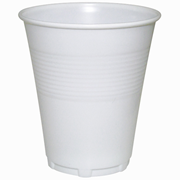 Picture of Food and Packaging Supplies-Disposable Cups Plastic Drinking Cups, 200ml Universal Plastic Drinking Cups, 200ml, Disposable, Recyclable, White, 1000 per Carton