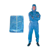 Picture of Apparel - Coveralls - Livingstone Livingstone Disposable Coveralls Protective Suit with Hood, 2-Way Zipper, Large, Tyvek Spun Lace, Non-Woven, Blue, 50 per Carton