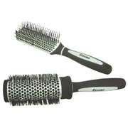 Picture of Beauty-Hairdressing supplies Hair Brushes Gift Pack: Ceramic Hair Brushes with Nylon Bristles 1x Roll Brush (6cm) and 1x Small Paddle Brush, Set