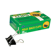 Picture of Livingstone Fold Back Clips, 19mm, Black, 12 per Box Livingstone Fold Back Clips, 19mm, Black, 12 per Box