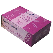Picture of School-Livingstone Office General Supplies Staplers ,Clips & Fasteners Clips & Fasteners Paper Clips Livingstone Paper Clips, 33mm, 100 per Box