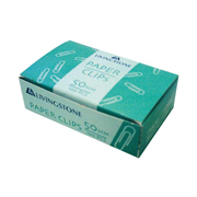 Picture of School-Livingstone Office General Supplies Staplers ,Clips & Fasteners Clips & Fasteners Paper Clips Livingstone Paper Clips, 50mm, 100 per Box