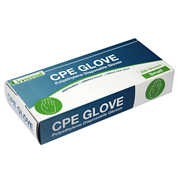 Picture of Universal Cast Polyethylene (CPE) Gloves Universal Disposable Cast Polyethylene (CPE) Gloves, Small, Embossed, Ambidextrous, Recyclable, 200 per Box