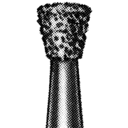 Picture of Dental-Burs - Diamond 010 (Inverted Cone / 805) FG Miniature (High Speed / 313) Ad 530 Diamond Burs, Inverted Cone, ISO 010524 #10, Friction Grip, Medium, Each