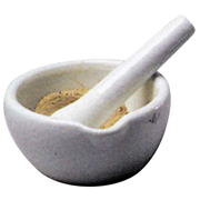 Picture of Laboratory Supplies-Mortars & Pestles Porcelain with Spout Livingstone Mortar and Pestle, 1000ml, 210mm Diameter, Porcelain, Each