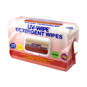 Picture of Wipes-Detergent Wipes Liv-Wipe Liv-Wipe Detergent Wipes, 22 x 28cm, Nonwoven, Alcohol Free, Neutral pH, 200 in Soft Pack