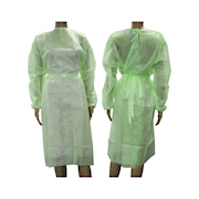 Picture of Protective Wear - Apparel - Gowns/Coats Surgical Gowns Livingstone Long Sleeve Isolation Gown with Tie, Water Resistant, Dust Coat,Nonwoven, 40gsm, Green, 1 per Bag, 100 per Carton
