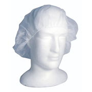 Picture of Apparel-Hair Nets Livingstone Disposable Hair Nets with Elastic Edge, Nylon/Cotton, One Size Fits All, White, 100 per Pack, 1000 per Carton