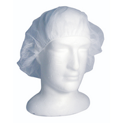 Picture of Apparel-Hair Nets Livingstone Disposable Hair Nets with Elastic Edge, Nylon/Cotton, One Size Fits All, White, 100 per Pack
