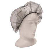 Picture of Apparel-Hair Nets Livingstone Disposable Hair Nets with Elastic Edge, Nylon/Cotton, One Size Fits All, Black, 100 per Bag, 1,000 per Carton