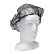 Picture of Apparel-Hair Nets Livingstone Disposable Hair Nets with Elastic Edge, Nylon/Cotton, One Size Fits All, Black, 100 per Bag