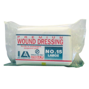 Picture of Dressings-Wound Dressings Gauze Dressings Premium Livingstone Premium Wound Dressing Bandage, #15, Large, 17 x 8 cm Pad, Sterile, Latex Free, 38 grams, 12 per Pack