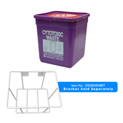Picture of Livingstone Cytotoxic Waste Disposal Safe, 5L, Square, with Lid, Purple, Fits Bracket DSS004INBKT, Each Livingstone Cytotoxic Waste Disposal Safe, 5L, Square, with Lid, Purple, Fits Bracket DSS004INBKT, Each