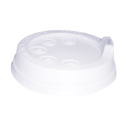 Picture of Food and Packaging Supplies-Disposable Cups Lids For Foam Cups Livingstone Lids for 12oz Foam Cups (DT12J125), Sipper Style, White, 1000 per Carton