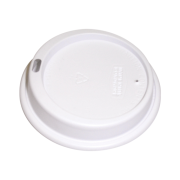 Picture of Food and Packaging Supplies-Disposable Cups Lids For Foam Cups Lids for 16oz Foam Cup (DT16J165), Cappuccino, White, 1000 per Carton