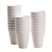 Picture of Food and Packaging Supplies-Disposable Cups Foam Cups Livingstone Foam Cups, 16oz or 473ml, Plain, White, 500 per Carton