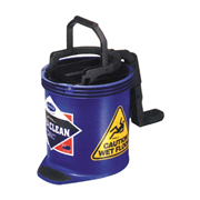 Picture of Cleaning Equipment - Mop Buckets - Oats Oates Recyclable Plastic Roll Wringer Bucket, Blue, 15 Litres, Each