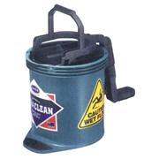 Picture of Cleaning Equipment - Mop Buckets - Oats Oates Recyclable Plastic Roll Wringer Bucket, Green, 15 Litres, Each