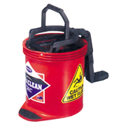 Picture of Cleaning Equipment - Mop Buckets - Oats Oates Recyclable Plastic Roll Wringer Bucket, Red, 15 Litres, Each