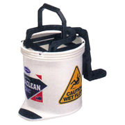 Picture of Cleaning Equipment - Mop Buckets - Oats Oates Recyclable Plastic Roll Wringer Bucket, White, 15 Litres, Each