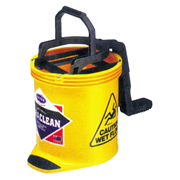 Picture of Cleaning Equipment - Mop Buckets - Oats Oates Recyclable Plastic Roll Wringer Bucket, Yellow, 15 Litres, Each