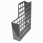 Picture of Esselte Boxer Magazine File, A4, W:80mm D:250mm H:325mm, 70mm Capacity, Recyclable Polystyrene, Lattice Design, High Gloss, Grey, Each Esselte Boxer Magazine File, A4, W:80mm D:250mm H:325mm, 70mm Capacity, Recyclable Polystyrene, Lattice Design, High Gloss, Grey, Each