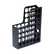 Picture of Esselte Boxer Magazine File, A4, W:80mm D:250mm H:325mm, 70mm Capacity, Recyclable Polystyrene, Lattice Design, High Gloss, Black, Each Esselte Boxer Magazine File, A4, W:80mm D:250mm H:325mm, 70mm Capacity, Recyclable Polystyrene, Lattice Design, High Gloss, Black, Each