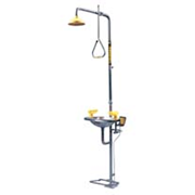 Picture of Speakman Combination Deluge Shower with Aerated Eye/Face Wash Unit, Rectangular Stainless Steel Bowl, Hand and Foot Operated, Each Speakman Combination Deluge Shower with Aerated Eye/Face Wash Unit, Rectangular Stainless Steel Bowl, Hand and Foot Operated, Each
